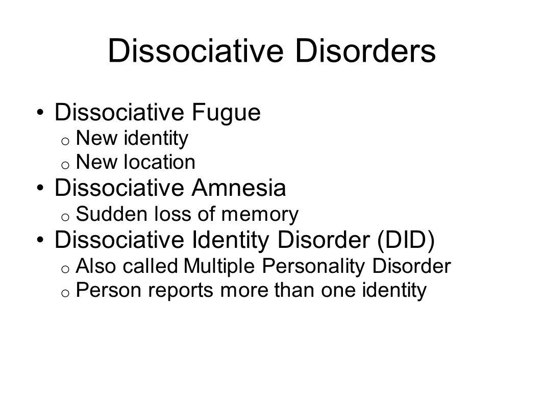 dissociative fugue essay