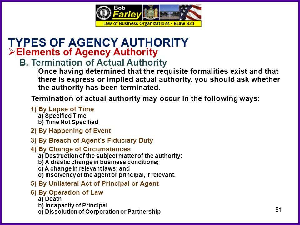 agency express actual authority