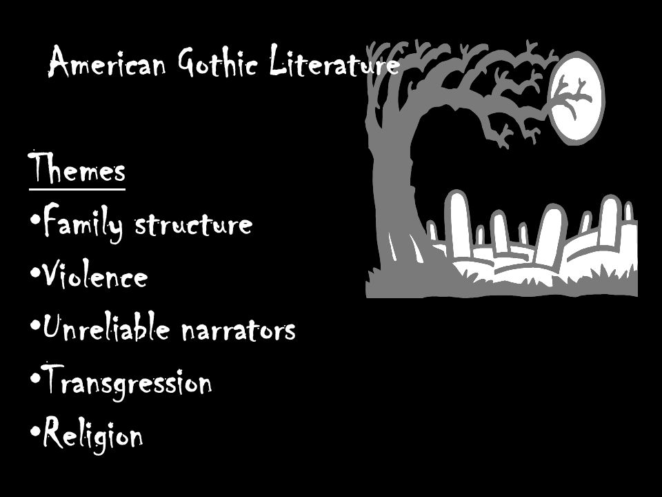 american gothic literature essay This paper discusses the theme of sleep in american gothic classic literature, which includes wb brown's somnambulism: a fragment.