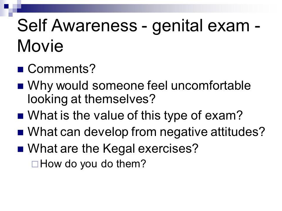 Self Awareness - genital exam - Movie Comments.