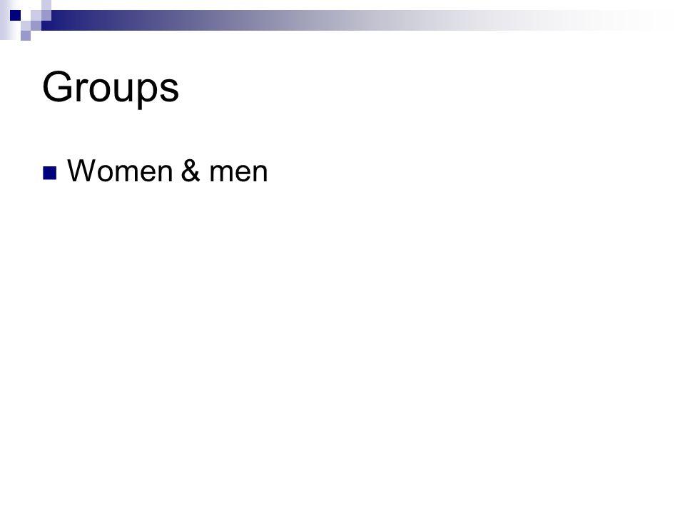 Groups Women & men