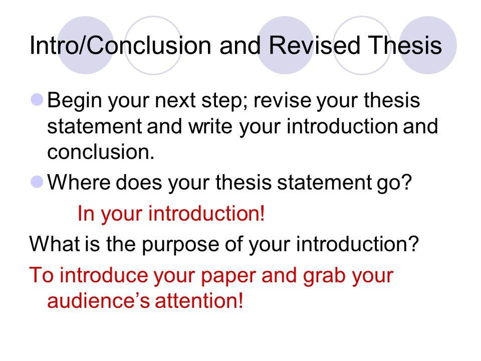 where does the thesis go in a 5 paragraph essay