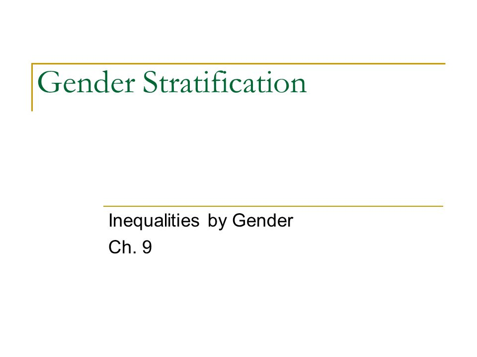 The functionalist view of gender stratification