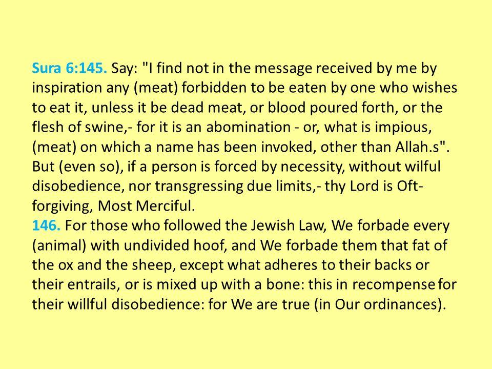 Sura 6:145.