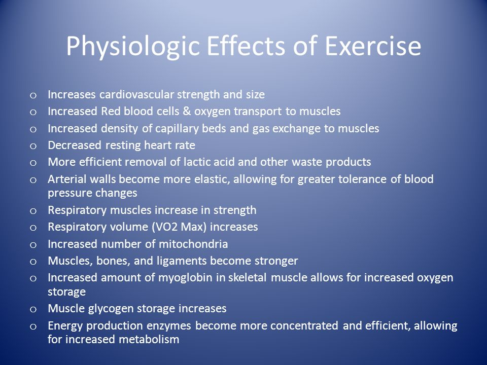 physiologic responses to long term exercise Understanding the stress response of hormonal changes and physiological responses helps someone to into the long-term effects chronic stress.