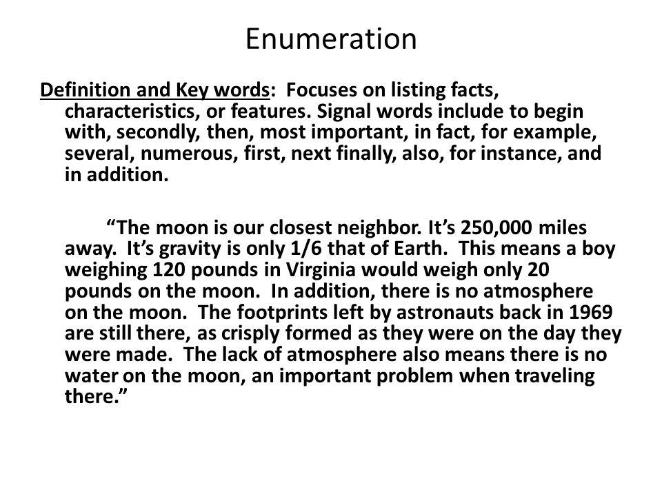 10 Enumeration Definition ...