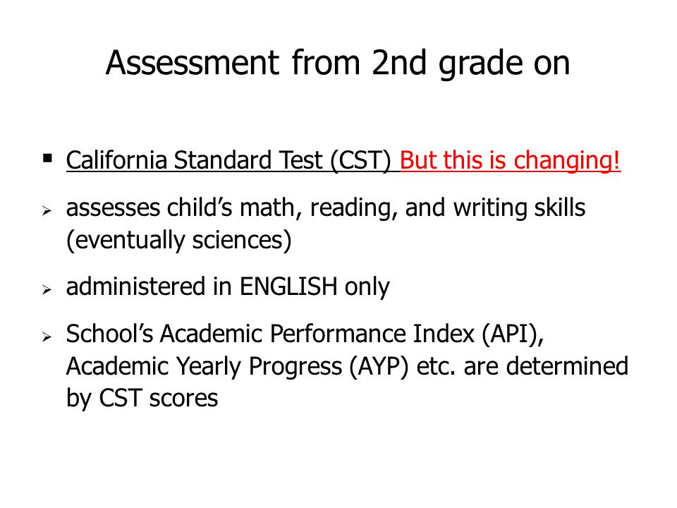 california standard test Standardized testing and reporting (star) program information for parents background and sample test questions for the california standards tests (csts).