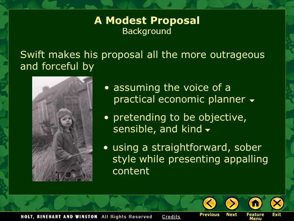 a modest proposal discussion Need students to write about a modest proposal we've got discussion and essay questions designed by master teachers.