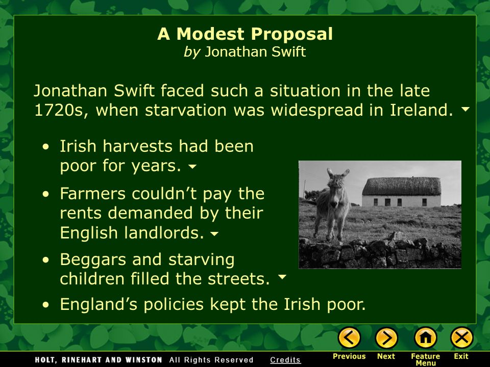 analysis of a modest proposal by jonathan swift essay Surprise ending analysis: swift's a modest proposal hence, this prompted him to conceive an appropriate idea meant to solve his state's predicaments.