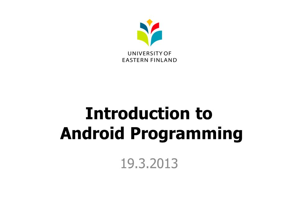 Introduction to Android Programming