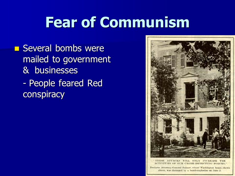 Is it fair to say that the UK feared communism around 1890?