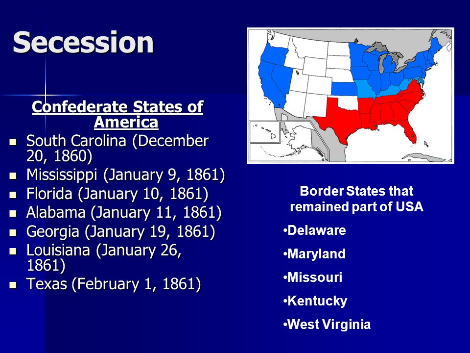 south carolina secession and civil war On december 20, 1860 south carolina seceded from the american union because of the election of an antislavery president, abraham lincoln, setting into motion the creation of the southern confederacy and the start of the civil war.