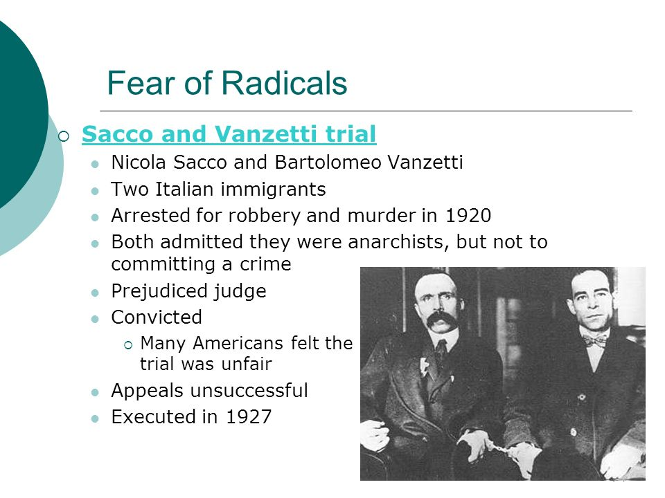 a review of the case of sacco and vanzetti The ordeal of sacco and vanzetti came to symbolize the sacco & vanzetti is an the documentary does an adequate job of linking their case to today via.