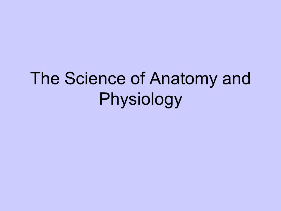 The Science of Anatomy and Physiology. Anatomy the study of internal ...