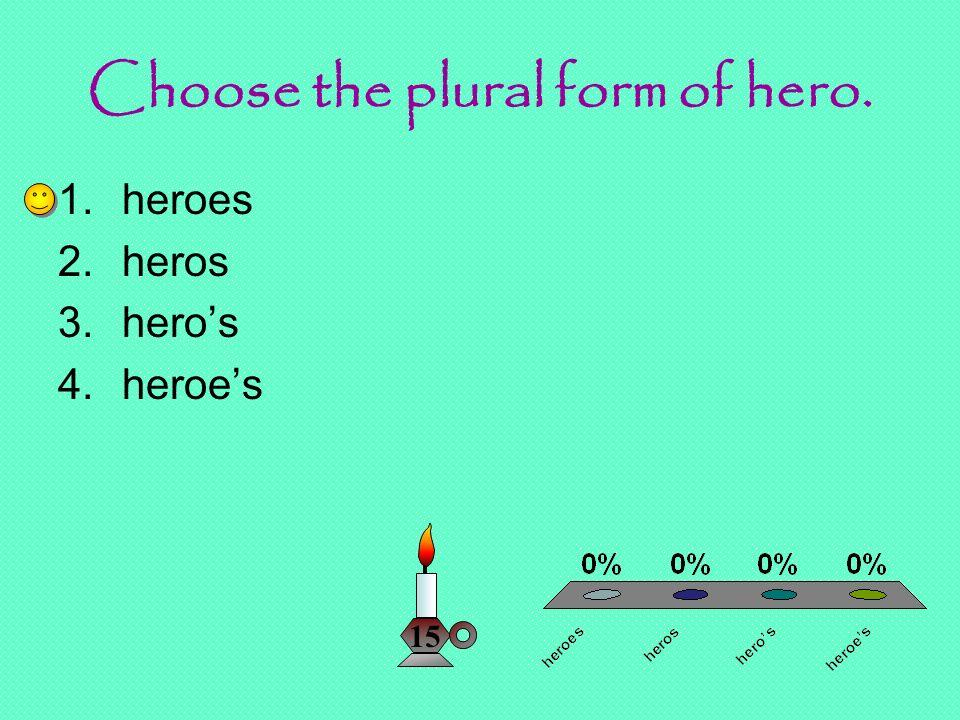 Plurals Review Mrs. Klug Reading/Language. Choose the plural form ...