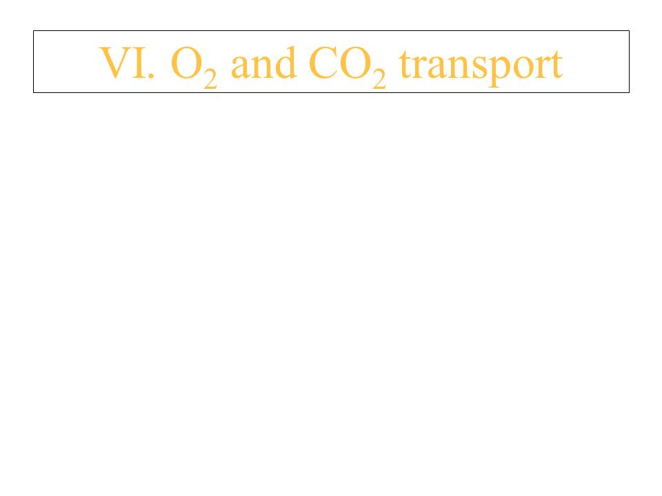 VI. O 2 and CO 2 transport A. O 2 i s c a r r i e d 2 w a y s 1.