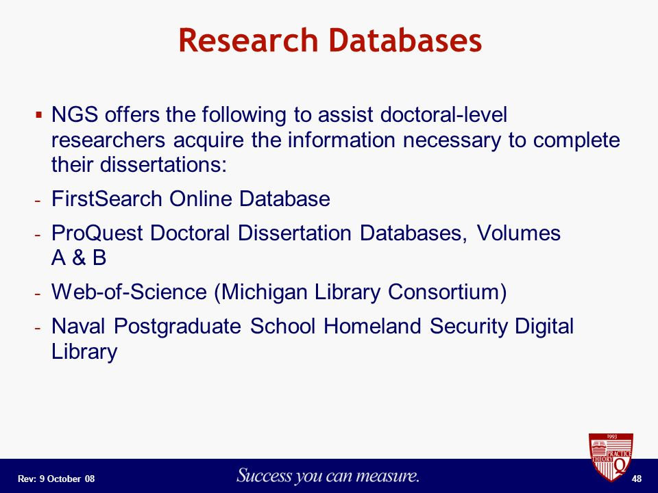 Thesis Dissertation Database