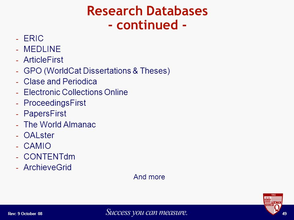 Online Dissertations And Theses Center