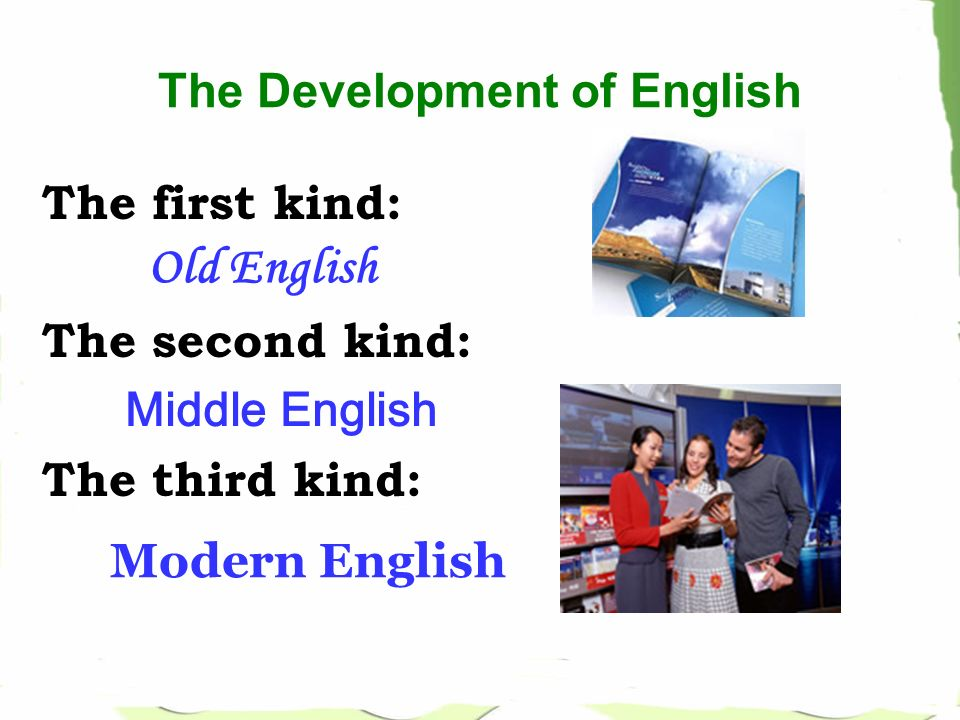 development of english