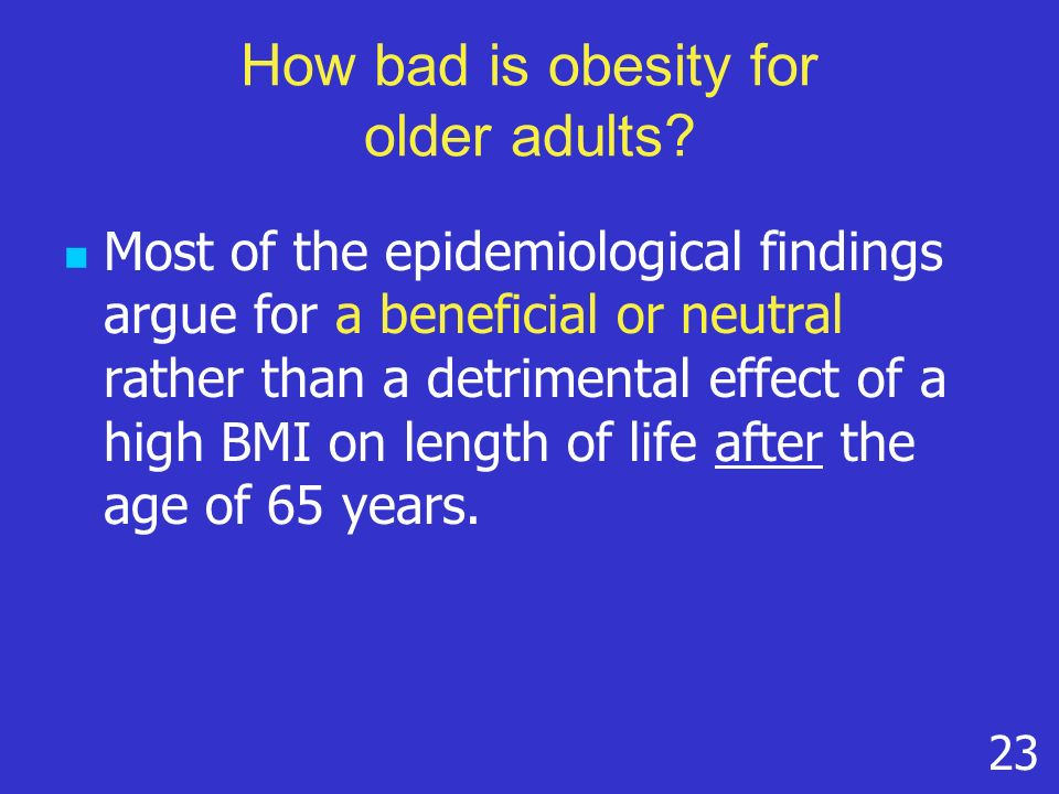 How bad is obesity for older adults.
