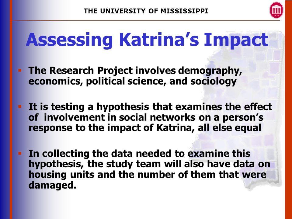 THE UNIVERSITY OF MISSISSIPPI The University of Mississippi ...