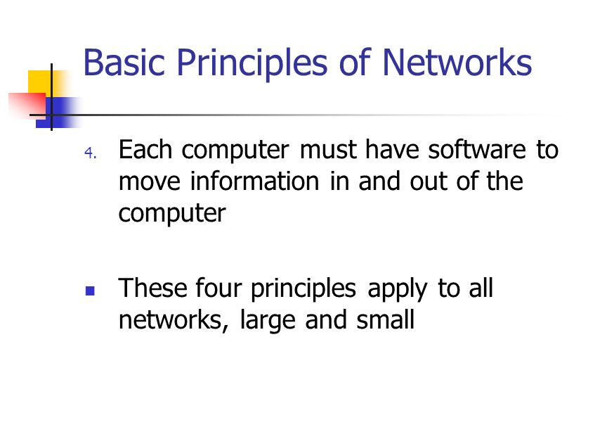 Basic Principles of Networks 4.