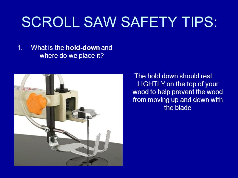 Scroll saw safety video 1 only make adjustments to the saw or your 4 scroll saw greentooth Choice Image