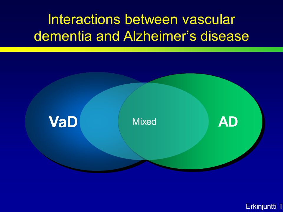 VaD AD Mixed Erkinjuntti T Interactions between vascular dementia and Alzheimer's disease