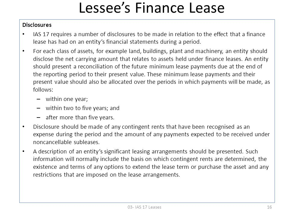 lessee ltd lease case Case 11-6 deals with lessee ltd, a company that operates in britain and uses ifrs the question in this case is how to classify a lease that lessee, ltd acquired from lessor inc.