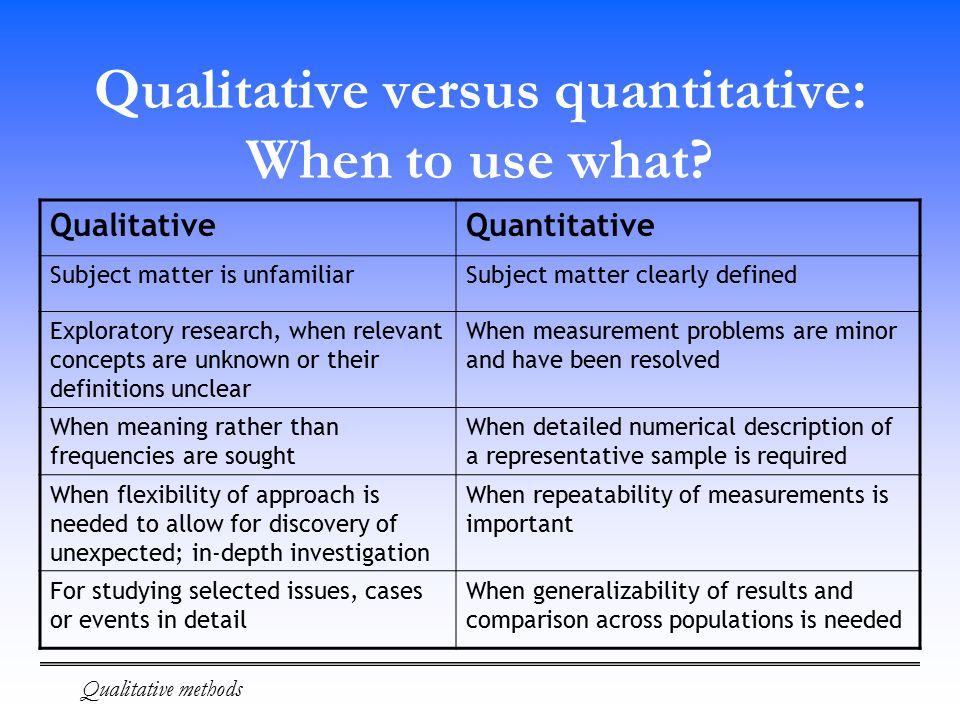 quantitative research means