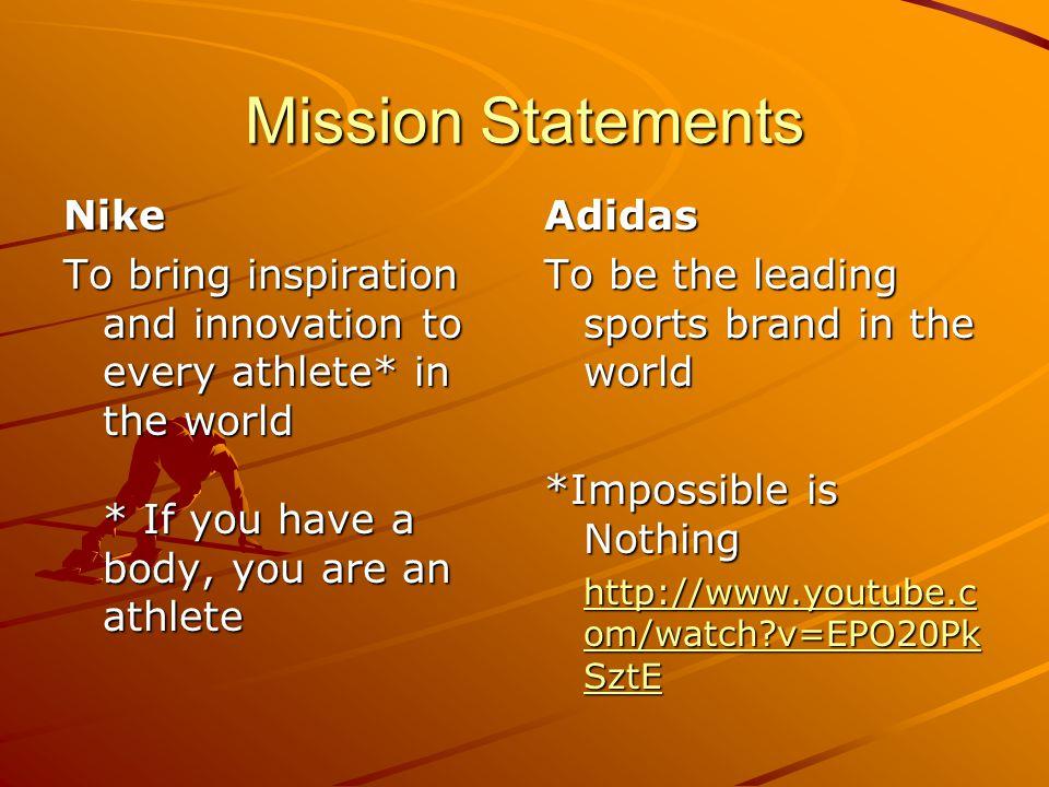 adidas mission statement