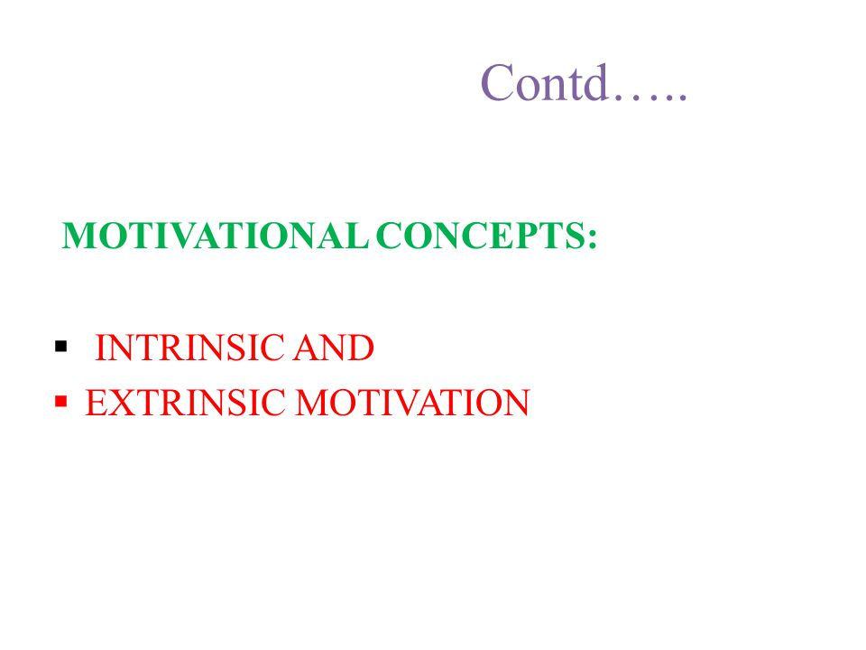 Contd…… THEORIES OF MOTIVATION:  DRIVE THEORY  INCENTIVE THEORIES  MASLOW THEORY OF HUMAN MOTIVATION