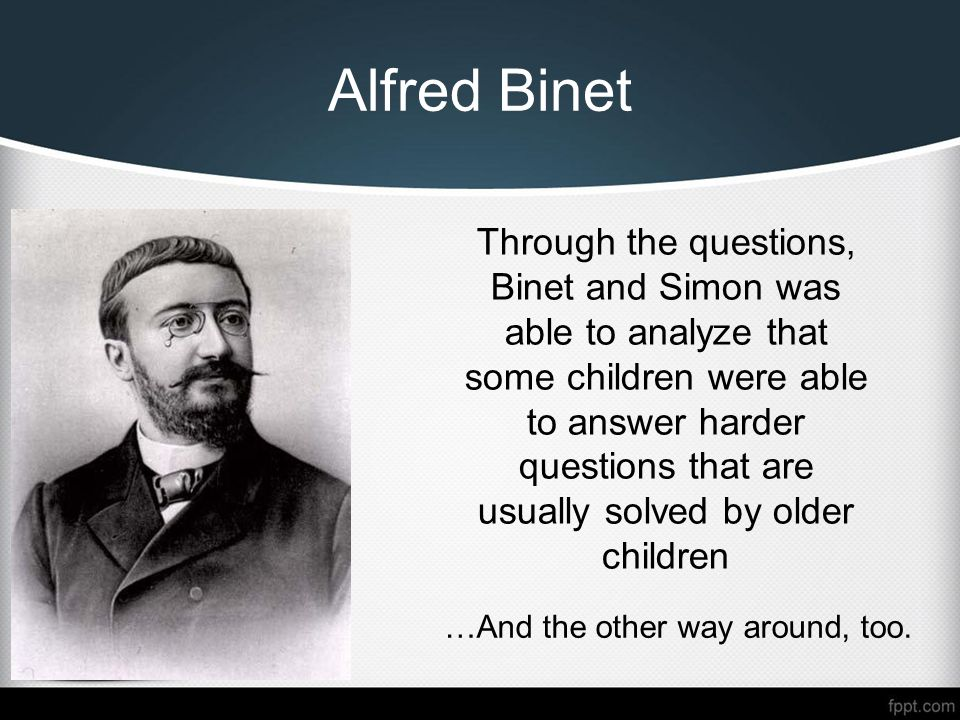 Sixteen     Alfred Binet Intelligence Test   WSOURCE Google Sites