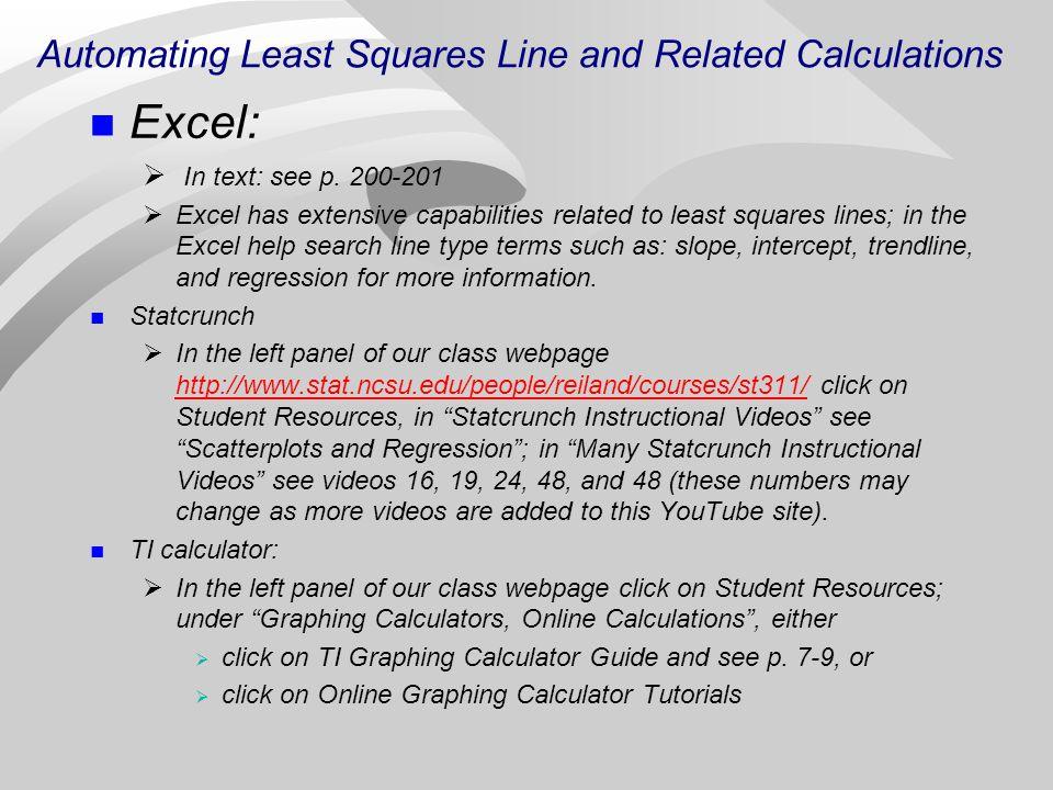 least square method youtube