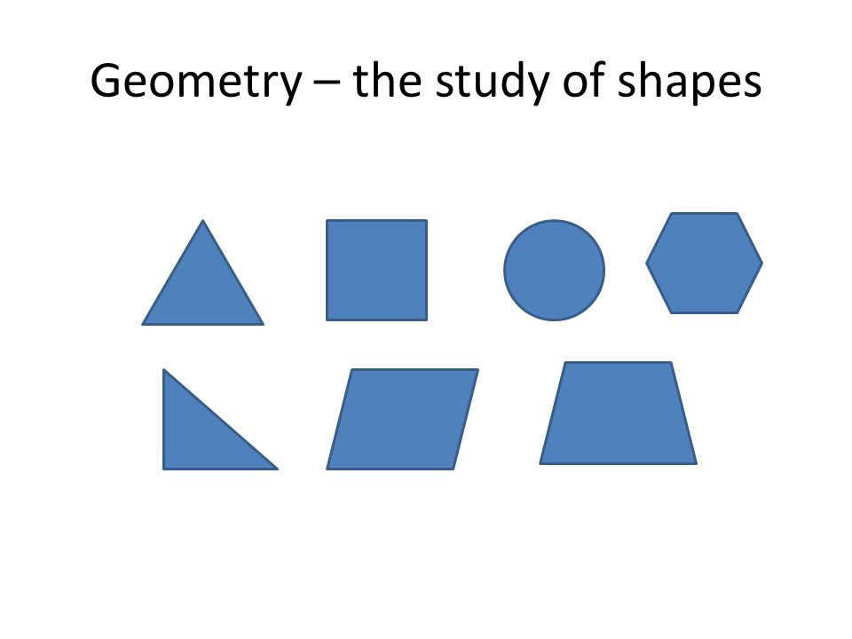 Geometry – the study of shapes
