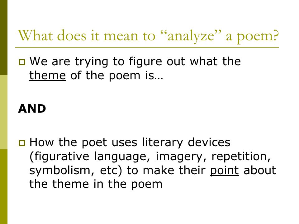 Poetry Analysis Essay Sample