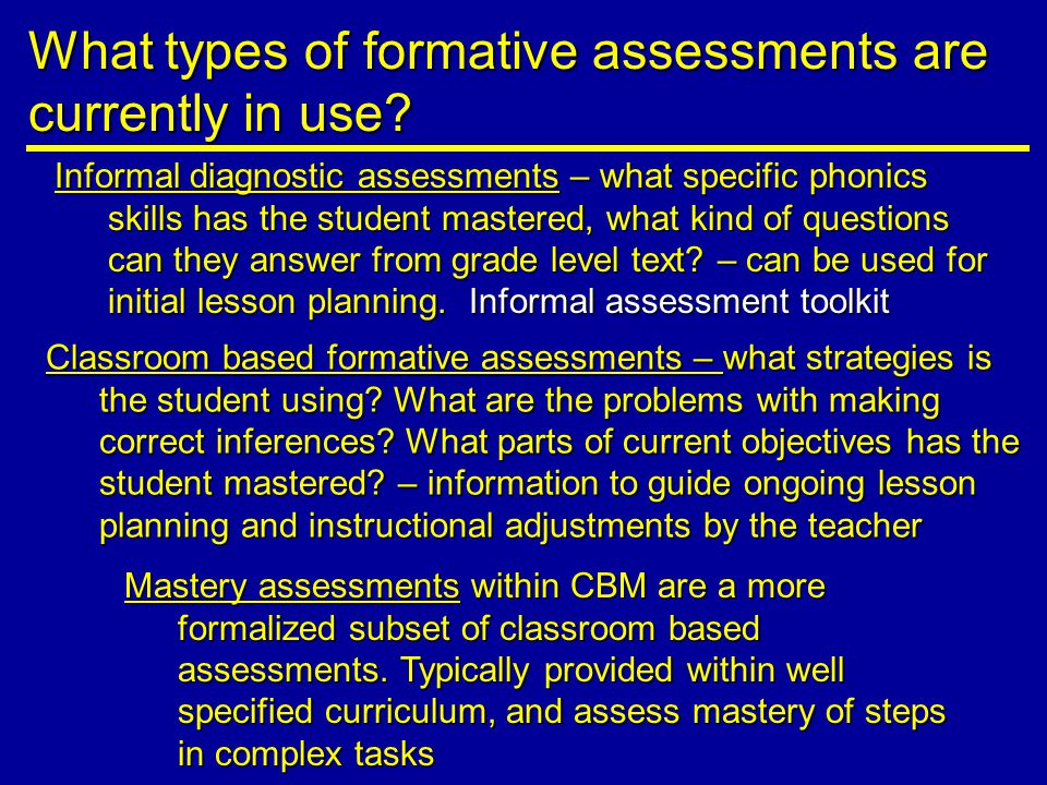 Classroom based formative assessments – what strategies is the student using.