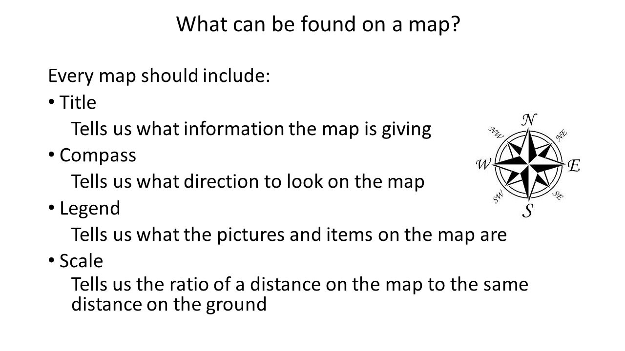 What Can Be Found On A Map