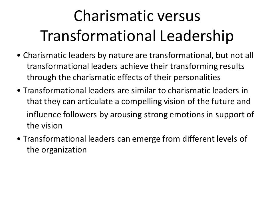 Past and present charismatic leaders