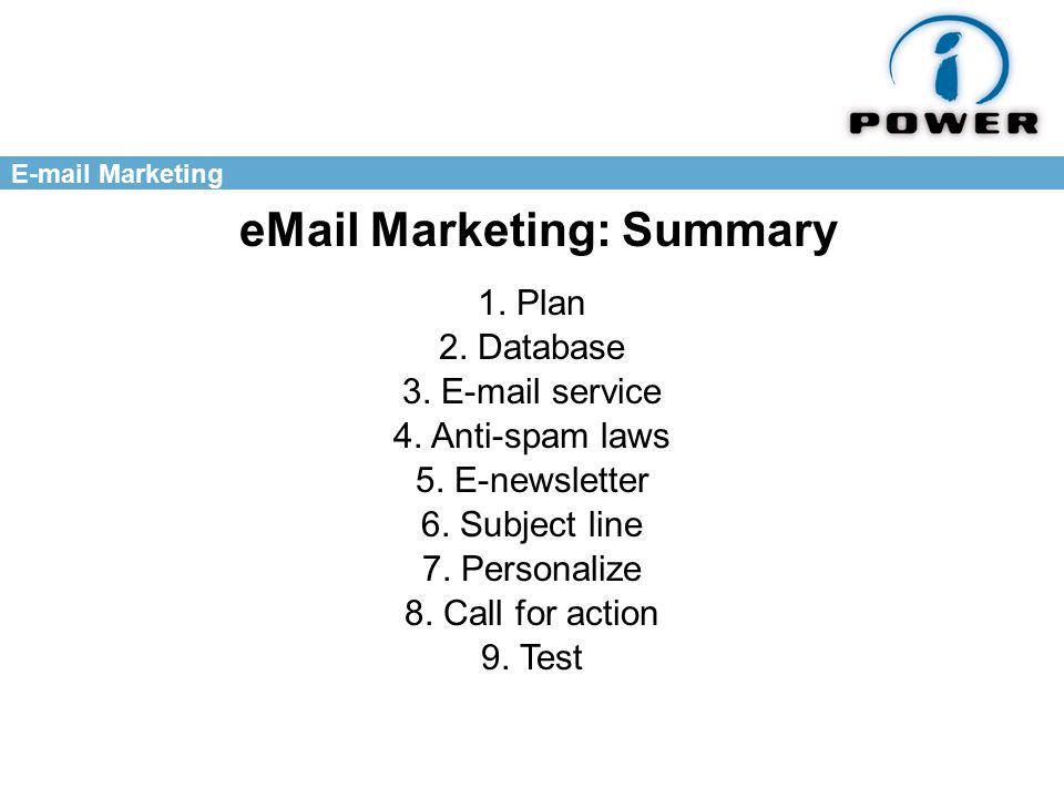 Marketing  Marketing: Summary 1. Plan 2.
