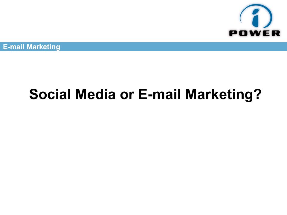 Marketing Social Media or  Marketing