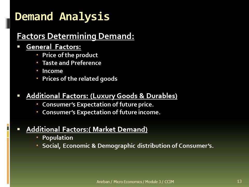 Determining demand