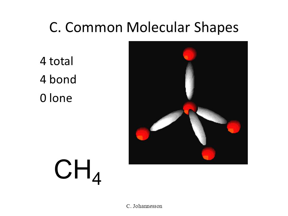 C. Johannesson C. Common Molecular Shapes 3 total 2 bond 1 lone BENT <120° SO 2