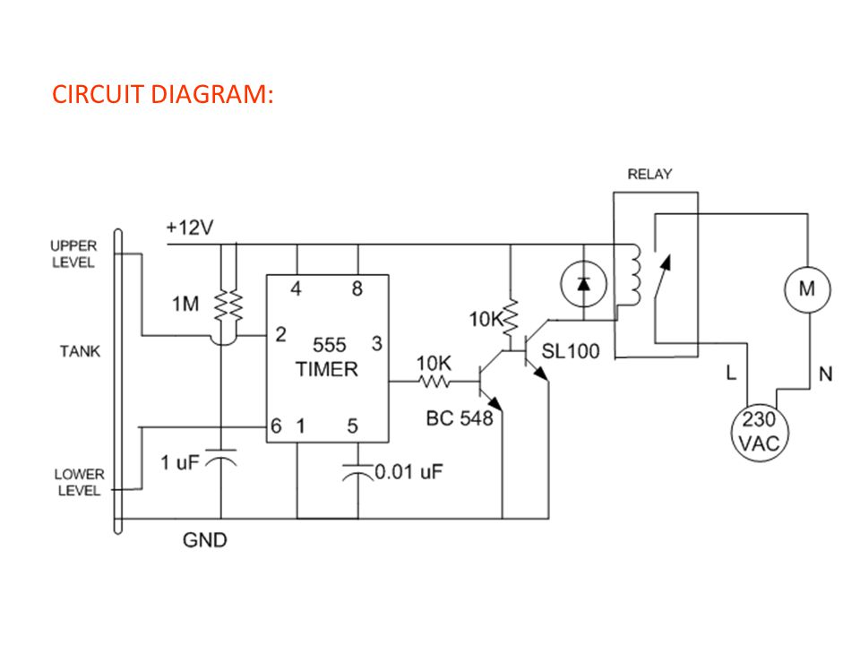 Water level controller using 555 timer ppt video online download 13 circuit diagram ccuart Gallery