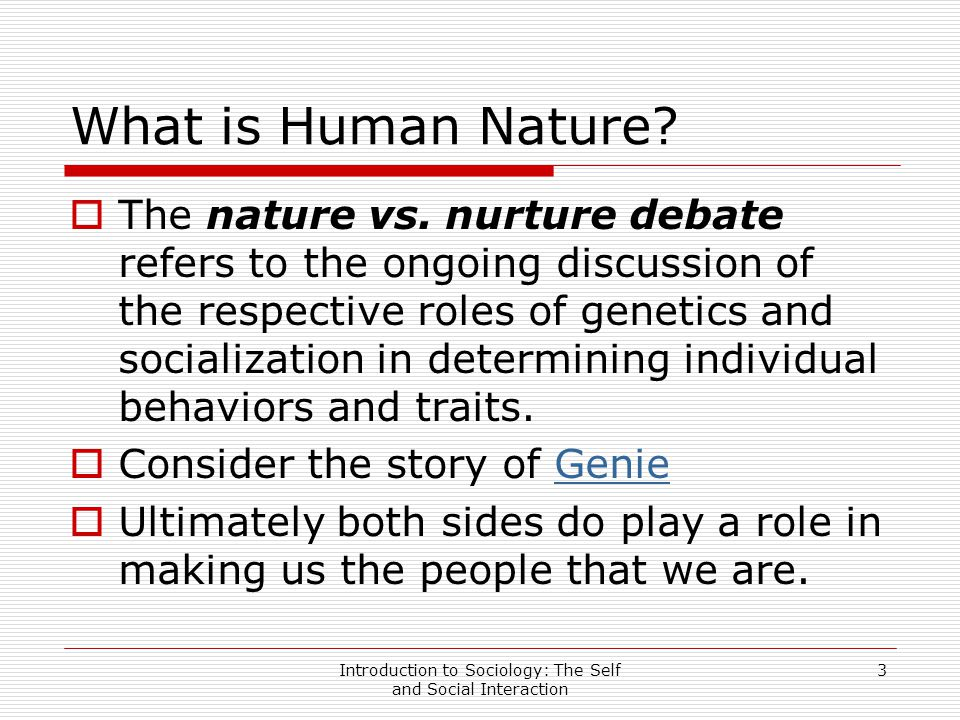 nature vs nurture essay nature side