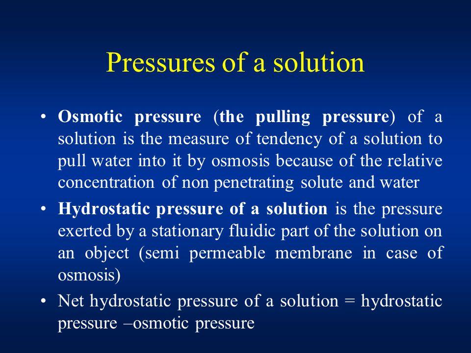 18 Pressures ...