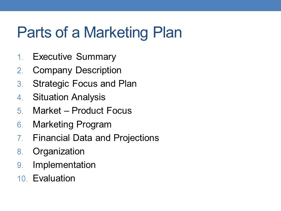Situational analysis business plan