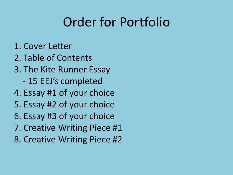 portfolio cover letter questions norms every paper must have the  cover letter 2 table of contents 3
