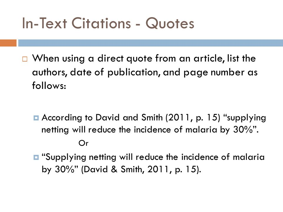 Apa in text citation page numbers