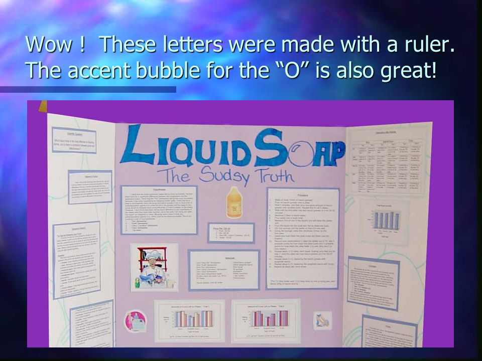 Wow ! These letters were made with a ruler. The accent bubble for the O is also great!